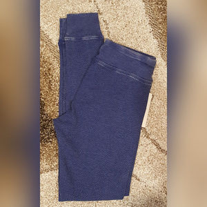 GH Bass Waffle Knit Thermal Look Leggings Size XS